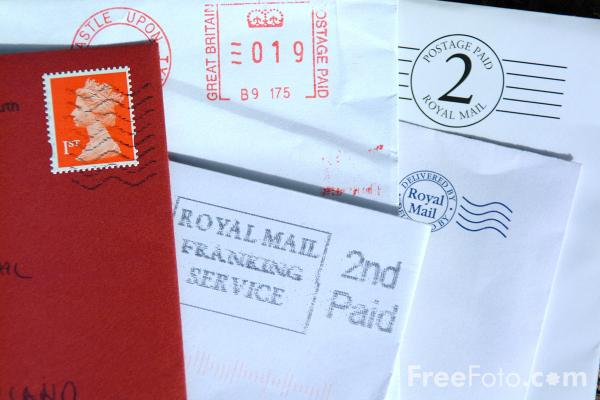 Postage bank letters